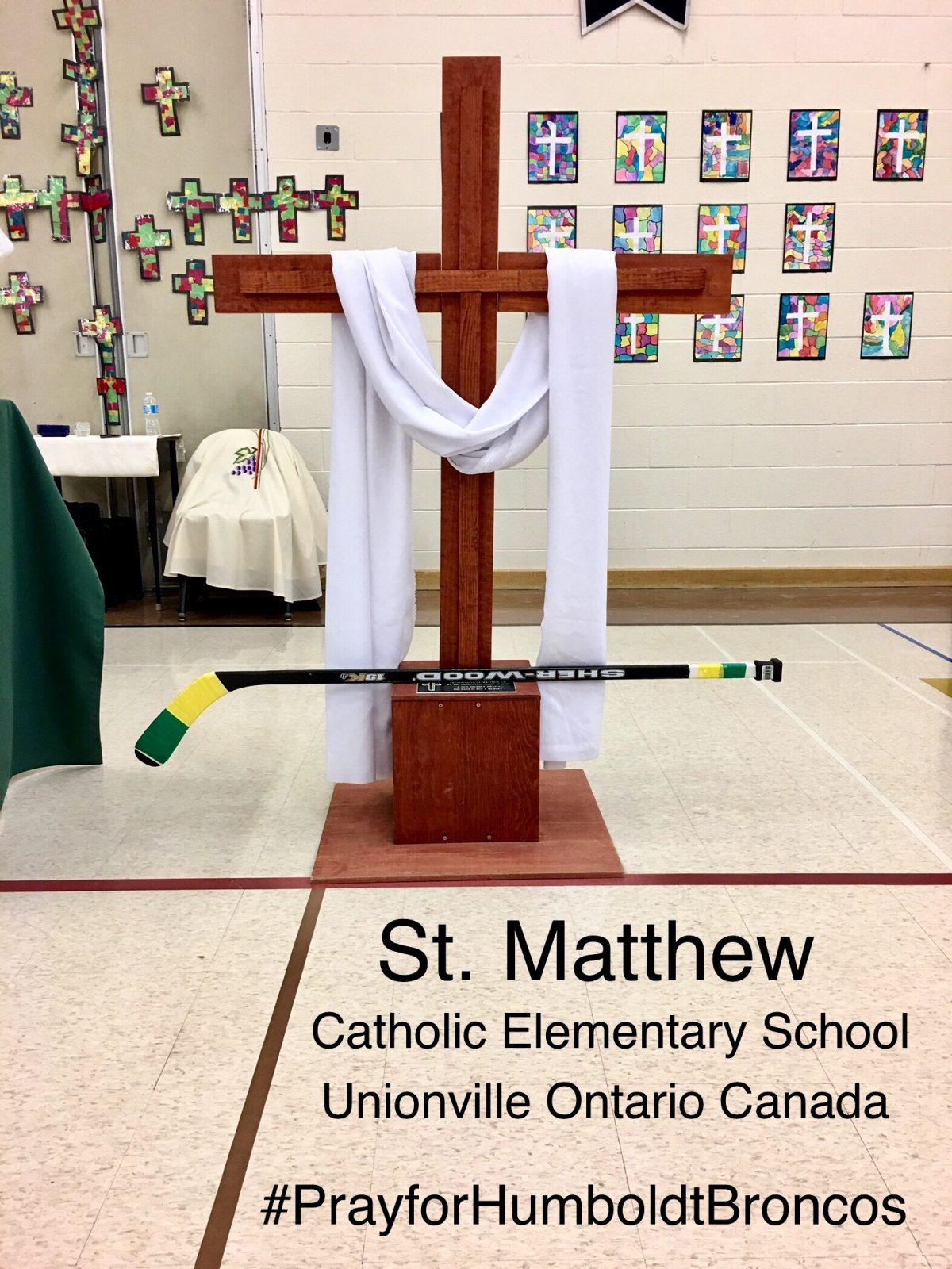 St. Matthew School Prays for Humboldt, Saskatchewan